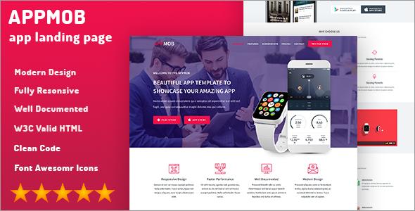 Showcase Landing App Template