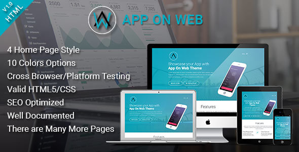 Simple App Landing Page Template