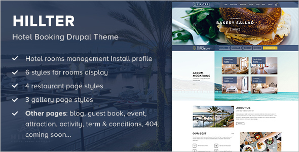 Simple Hotel Booking Drupal Theme