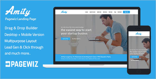 Simple Pagewiz Responsive Template