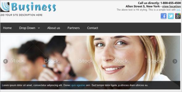 Simple & Slick Business Free Joomla Template