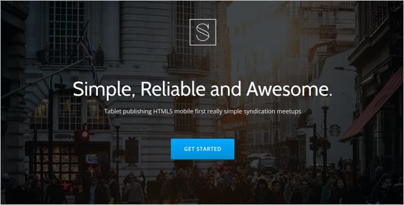 Simple Startup Landing Template