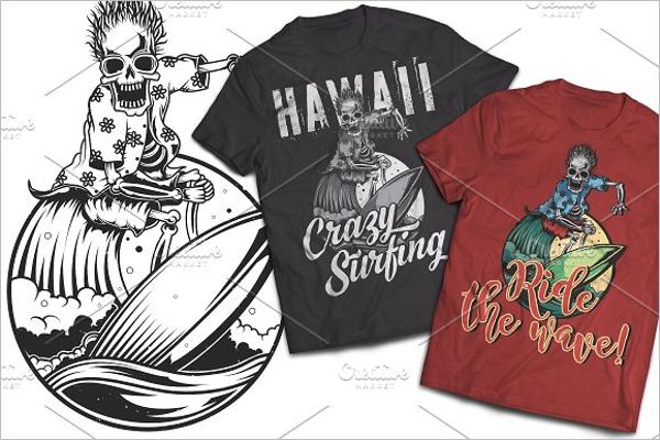 Skeleton T-shirts Label Design