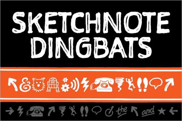 Sketch Dingbats Font