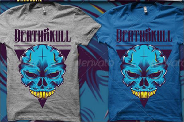 Skull T-Shirt Design template