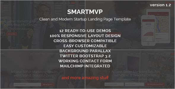 Software Startup Landing Page Template