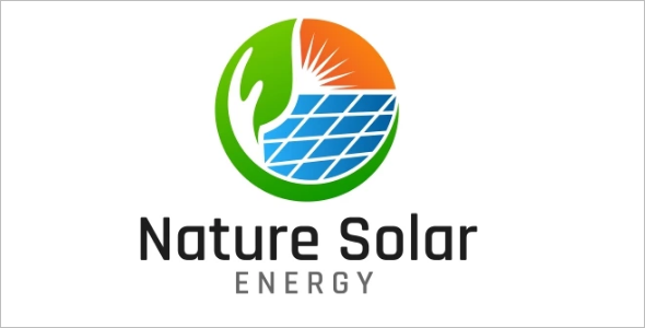 Solar Logo Nature Design