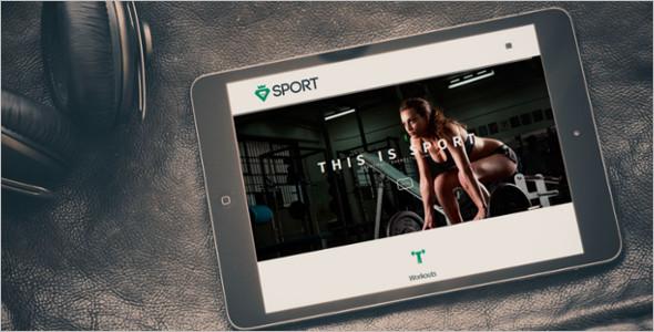 Sports startup Website Template