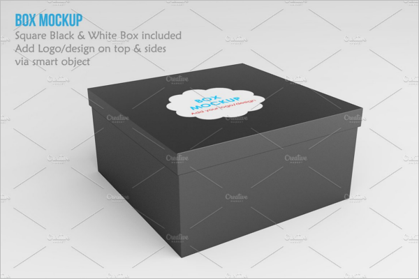 Square Box Product Mock up