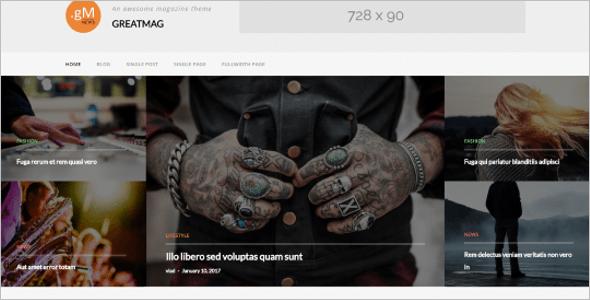 Standared WordPress Template