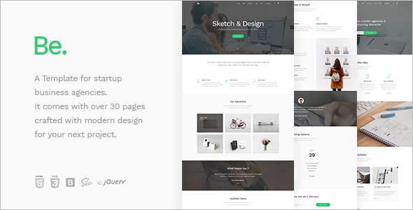Startup Business Website Template