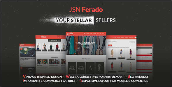 Stellar E-commerce Joomla Templat