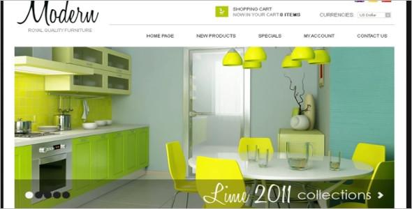 Stylish Furniture OsCommerce Template