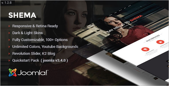 Stylish One Page Joomla template
