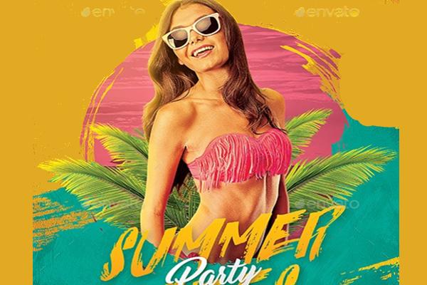 Summer Holidays Beach Party PSD