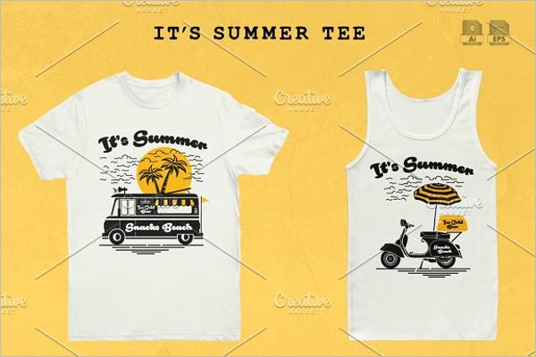 Summer Tree Design Shirt