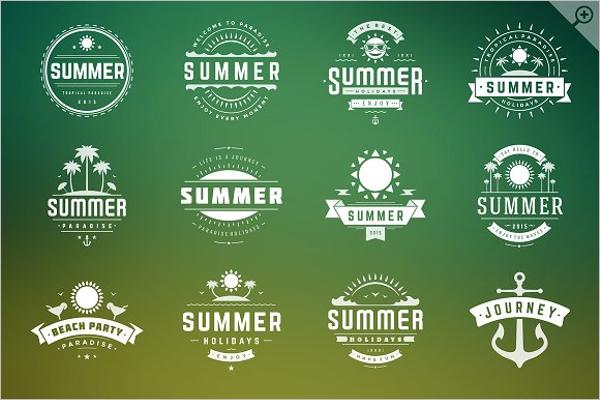 Summer holidays badges & labels Designs