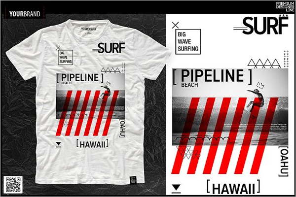Surf Themed T-Shirts Design