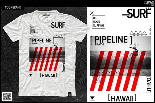 Surf Themed T-Shirts Design