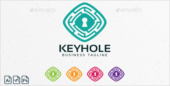 Symbol Logo Keyhole Design Template