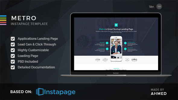 Themeforest Landing Page Template