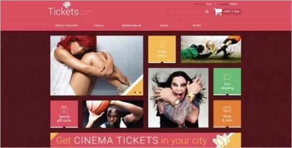 Tickets Website OsCommerce Template