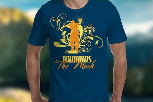 Towards the Mark T-Shirt Template
