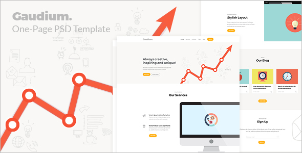 Trendy Bootstrap Template Design