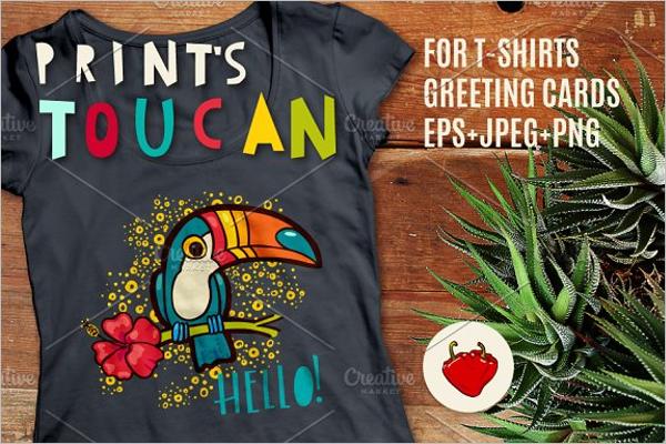 Tropical Toucan Print Design
