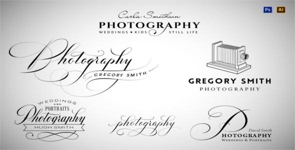 Typography Logo Camera Design