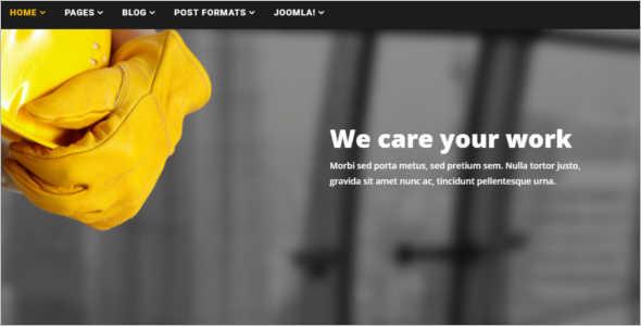 Under Construction Joomla Template
