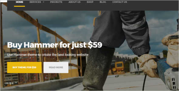 Under Construction WordPress Template
