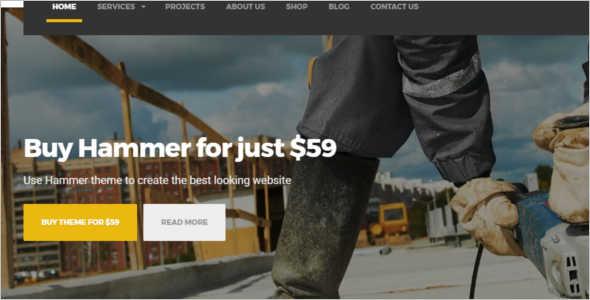Under Construction WordPress Template