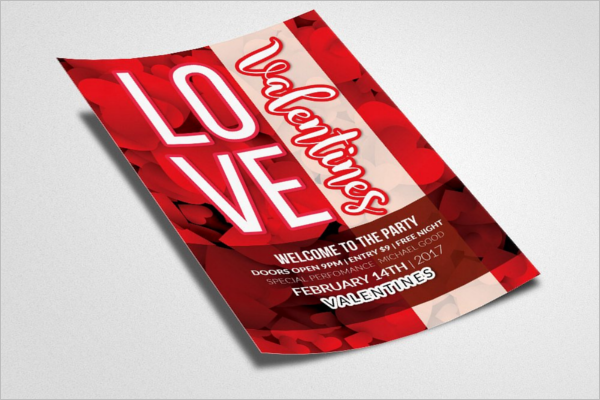 Valentines Party Brochure Ideas
