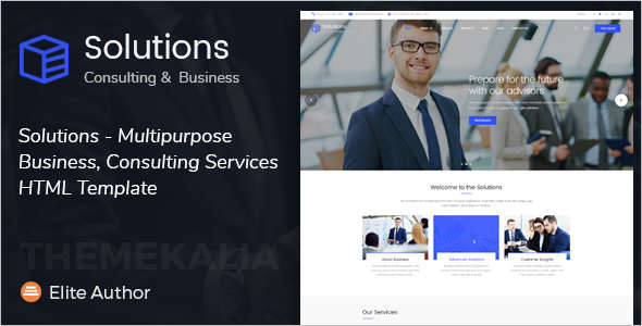 Business consulting website templates free premium templates vector consultancy business website template accmission Images