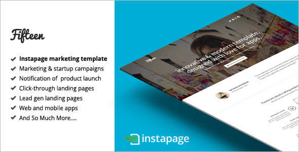 Vector Instapage Marketing Template