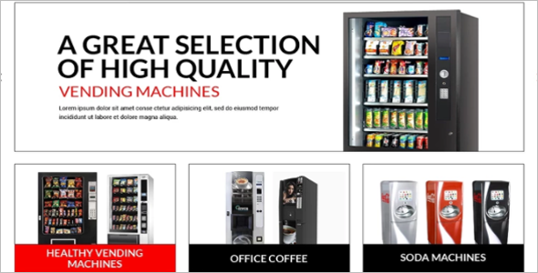 Vending Machines Store OsCommerce Template