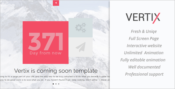 Vertix Full Screen Template