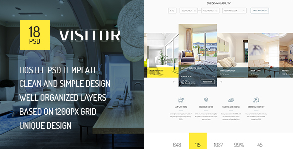 Visitor Online Hotel Booking Template