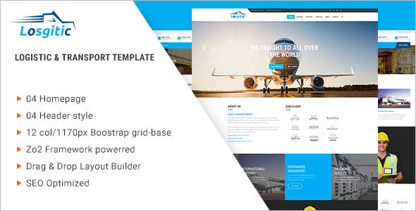 Warehouse Transport Joomla Template