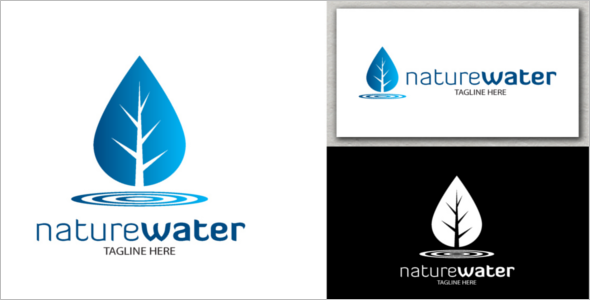 Water Logo Nature Template