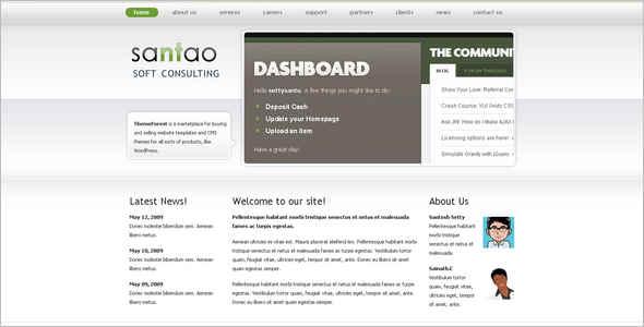 Web Corporate WordPress Template