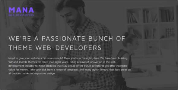 Web Development Design Joomla Template