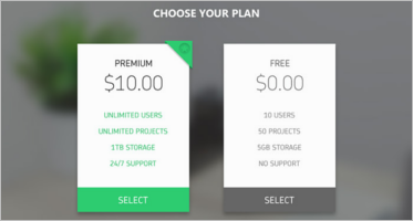 Multipurpose Pricing Table Designs