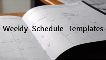 Weekly Schedule Templates
