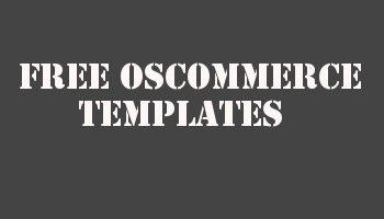 Free OsCommerce Themes