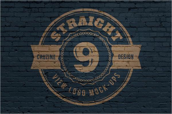 3D Design Logo Mockup