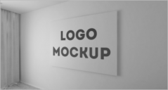 60+ 3D Wall logo Mockups