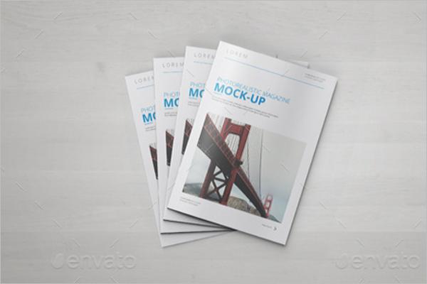 A4 Brochure Catalog Magazine Mock-Up Design