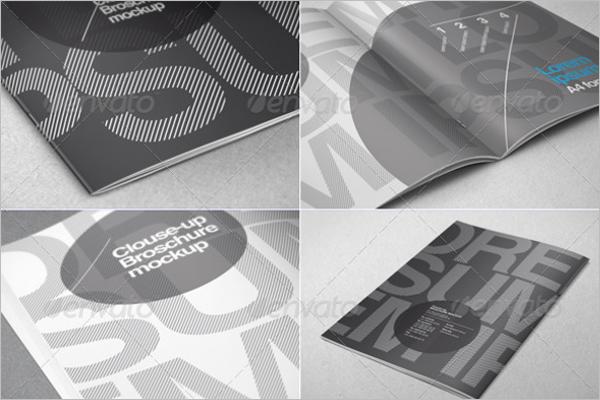 A4 Brochure Close-up Design
